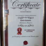 Education Today Certification of Achievement - Co-Curricular Activities